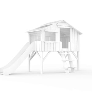 Treehouse Single Bed + Slide, Pine and MDF