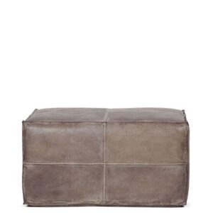 Pouffe Leather Rect PDG 90