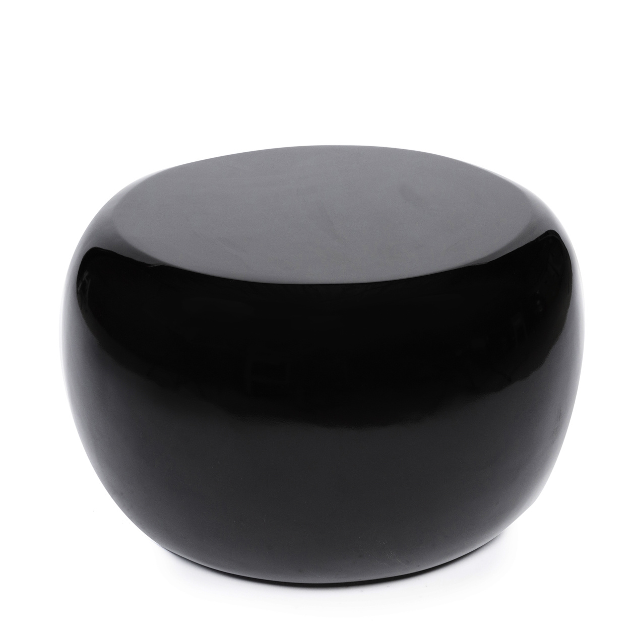 The High Gloss Side Table – Black