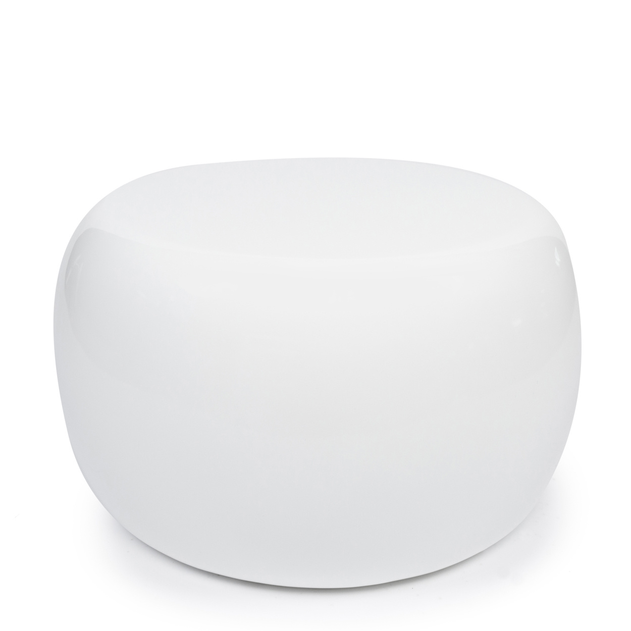 The High Gloss Side Table – White