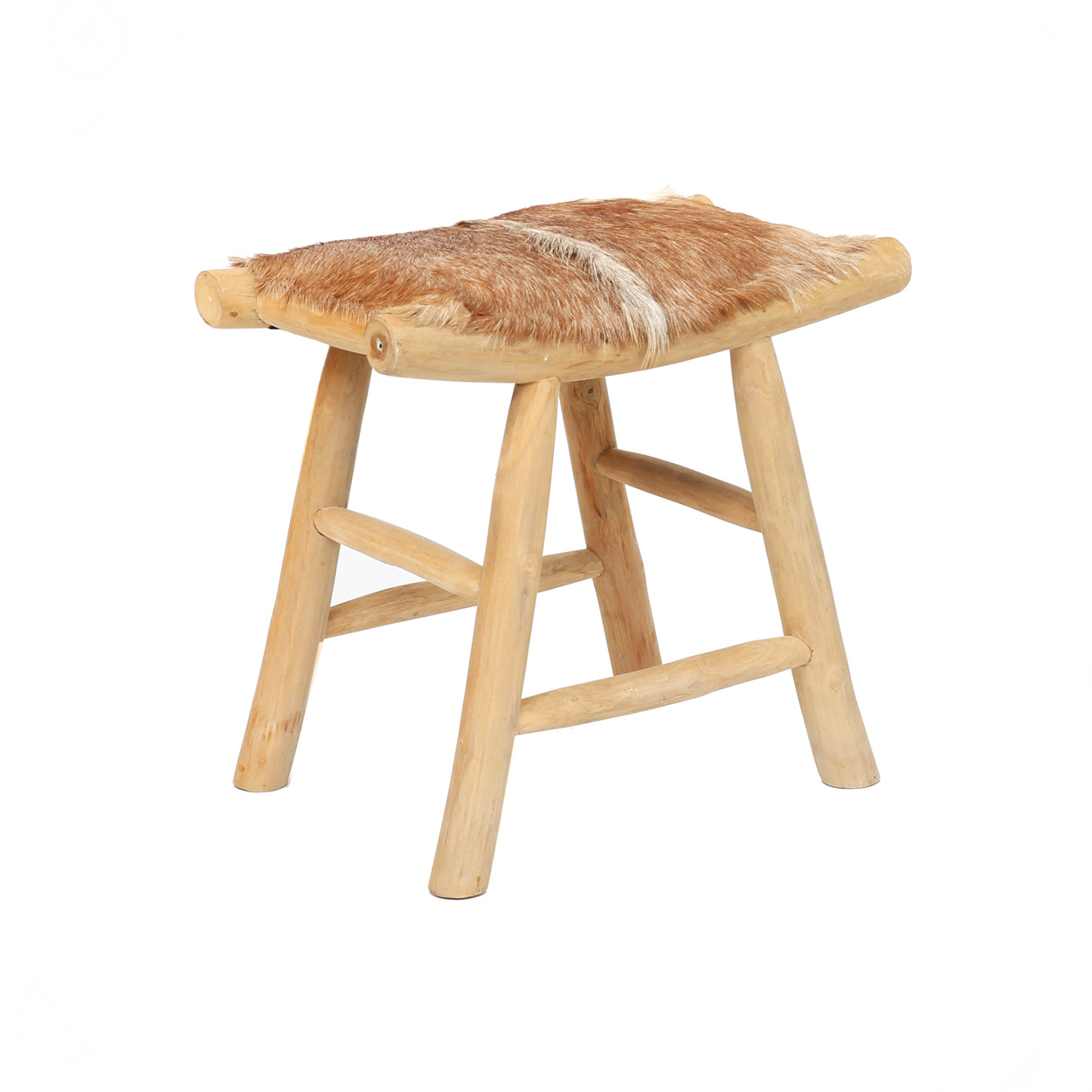 The Island Comfy Stool – Natural Brown